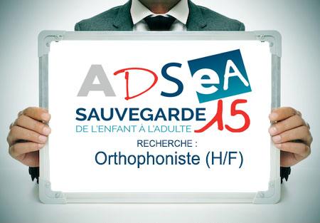 L'ADSEA recrute un(e) Orthophoniste  pour le CMPP