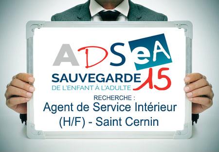 L'ADSEA recrute un(e) Agent de Service Intérieur