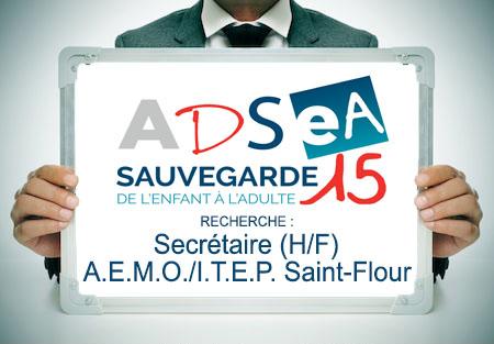 L'ADSEA recrute un(e) Secrétaire AEMO et ITEP Saint-Flour